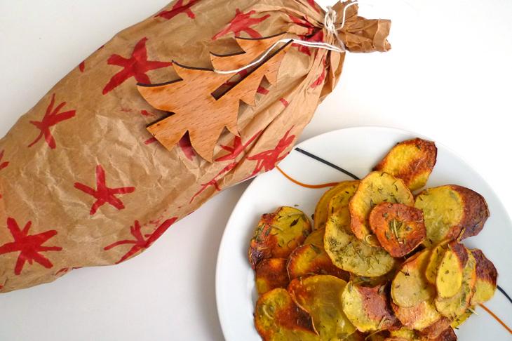 Hausgemachte Erdäpfel-Kräuterchips