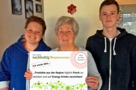 Max & Moritz mit ihrer Oma – kulinarisch nachhaltiges Trio