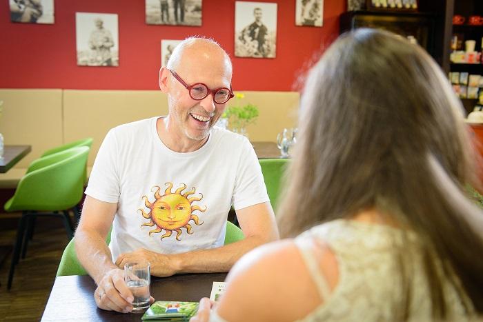 Foto: Interview mit Johannes Gutmann, © M. Haffert - SONNENTOR