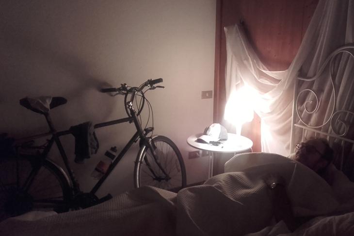 Foto: Fahrrad im Schlafzimmer,