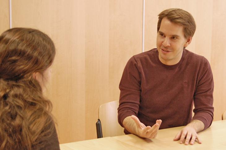 Foto: Interview mit Dr. Lukas Zenk ; © eNu