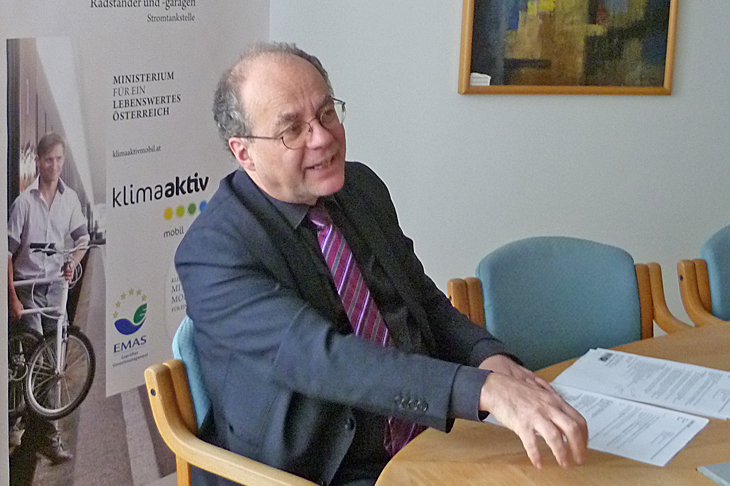 Foto: Interview mit DI Robert Thaler, Leiter der Abteilung Mobilität, Verkehr, Lärm - BMLFUW, © BMLFUW