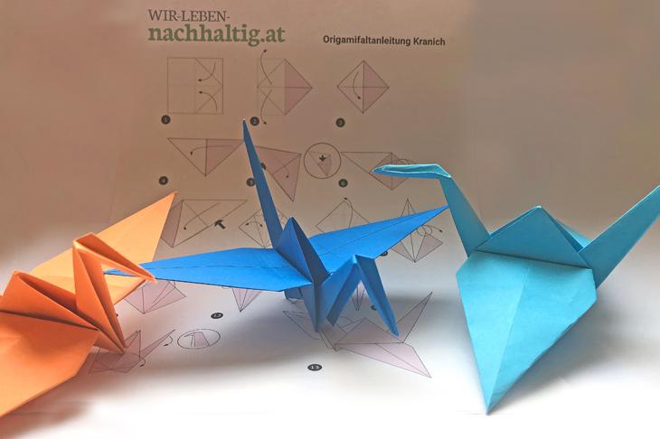 Origami-Kranische