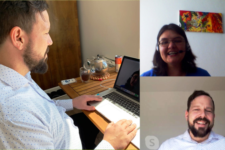 Interview mit Michael K. Reiter-Coban, die Fairmittlerei via Skype, (c) D. Capano