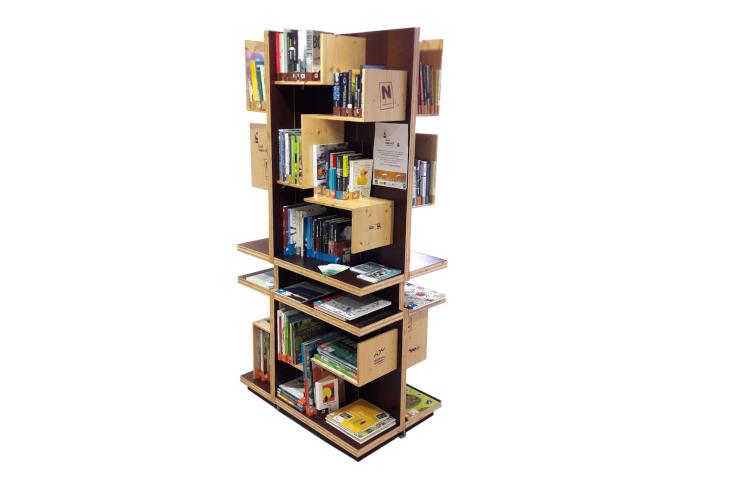 Bücherturm Leseumwelt