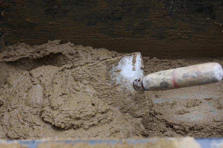 Lehmputz kann unendlich oft wiederverwendet werden, © T. Blondiau
