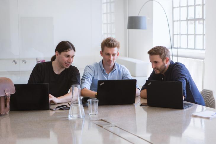 Gründer von refurbed: Peter Windischhofer, Kilian Kaminski und Jürgen Riedl